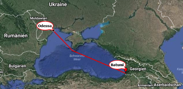 Ueberfahrt Odessa - Batumi