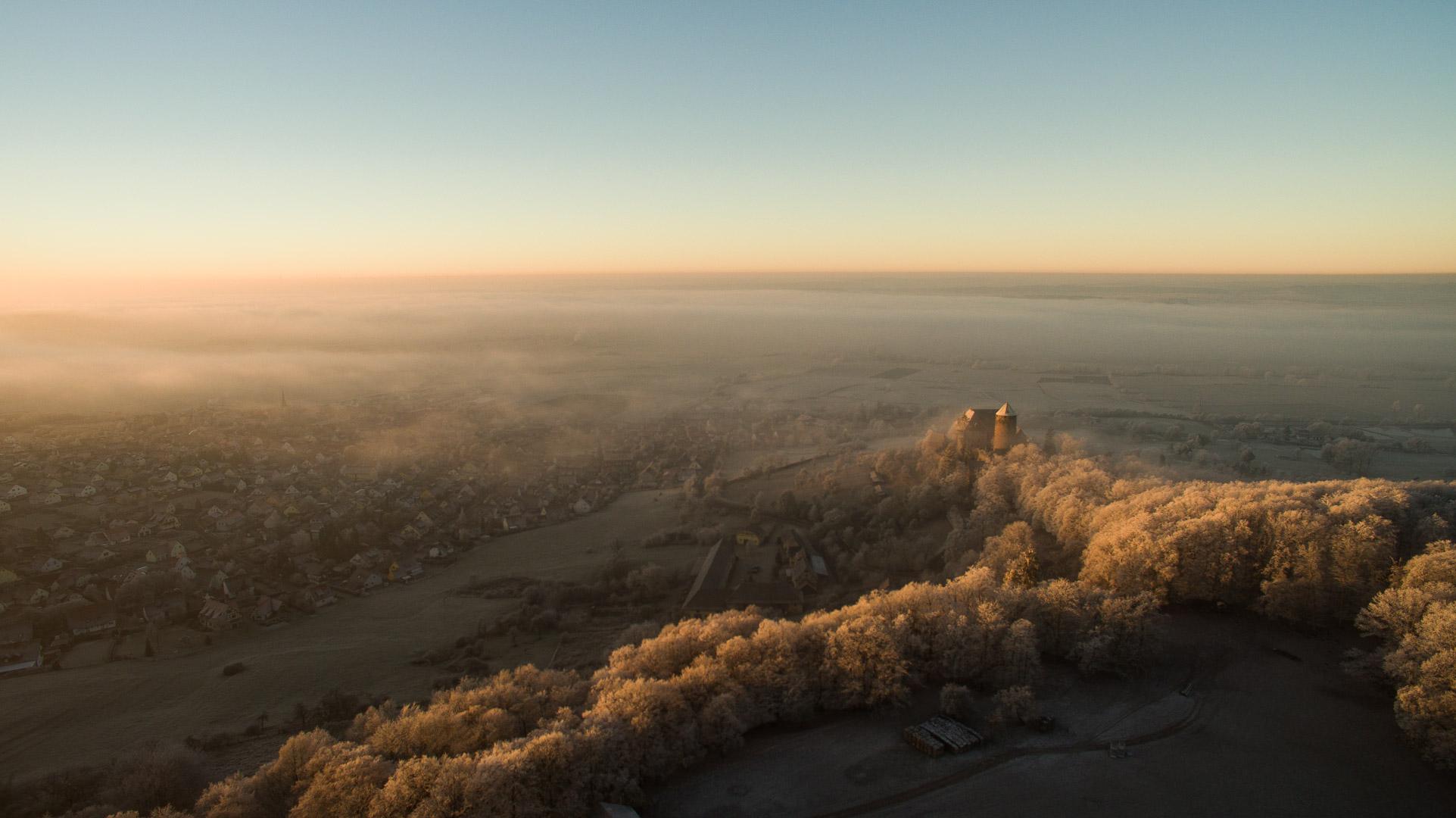 Götterdämmerung über Burg Colmberg